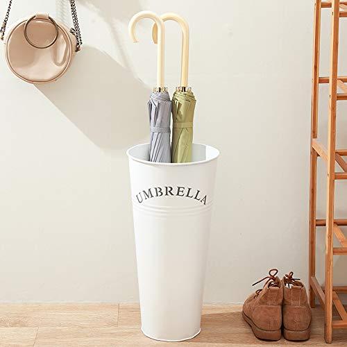 LHX Umbrella Stand Umbrella Bucket Home Fashion Einfache Home Iron Office Umbrella Stand Kreative Umbrella Aufbewahrungseimer Schwarz Weiß Rot-White