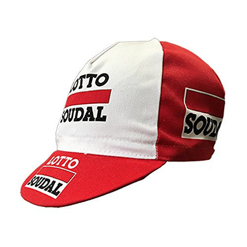 Gorra de equipo ciclista, diseño retro de estilo vintage, talla única, fabricada en Italia, Telecom