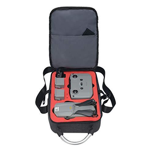 DJFEI Tragetasche für DJI Mavic Air 2 Drone, wasserdichte Handtasche Rucksack Hardshell Case Tasche für 2 Batterien, Fernbedienung, Ladegerät und Drone Zubehör (Schwarz)