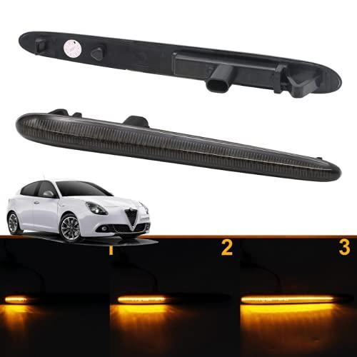 Frecce dinamiche accensione progressiva Alfa Romeo Giulietta canbus nessun errore montaggio immediato PLUG AND PLAY (Fumé)