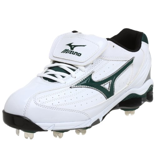 Mizuno Herren 9 Spike Classic G5 Low Baseball Cleat, Weiá (Weiß/Forest), 45 EU