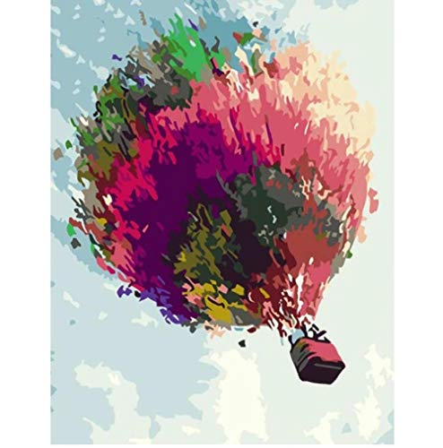 YUUDU Ölgemälde Ölgemälde nach Zahlen Hängender Korb Acrylfarbe Gemälde Bild Färbung auf Leinwand Wohnkultur-60x80cm (24x31inch)