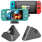 <span class='highlight'><span class='highlight'>FASTSNAIL</span></span> Charger Dock for Nintendo Switch/Nintendo Switch Lite, Portable Mini Charging Stand Charge Docking Station for Switch/Switch Lite 2019 Triangle Holder (Grey)