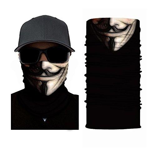 Ruffnek Guy Fawkes Maske Design–Maske, Nackenwärmer, Kopf Schal Multifunktions-Schal/Snood–One Size für Damen, Herren & Kinder