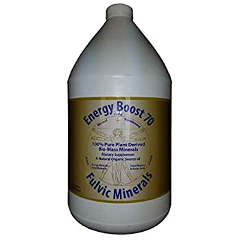 Energy Boost 70 Fulvic Minerals Trace Elements Vitamins and Amino Acids Morningstar Minerals  1 Gallon