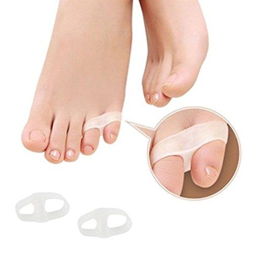 SiChun, 1 paio di separatori in gel per dita dei piedi, per alluce valgo, per correzione e per sollievo dal dolore