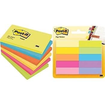 Haftnotiz Notes 63 g//qm 127 x 76 mm gelb 100 Blatt Tartan Notizblock 012776