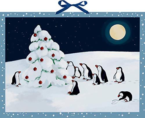 Wandkalender - Pinguin-Weihnacht
