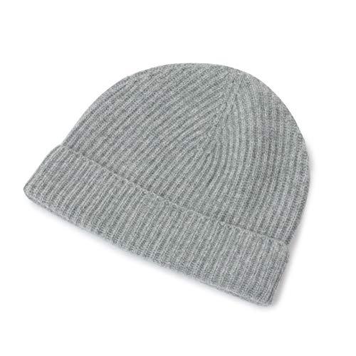 JOHNSTONS OF ELGIN ジョンストンズ カシミア ニットキャップ リブ ニット帽 帽子 カシミヤ HAE01941 HAE1941 5色 HA0200/LightGrey /
