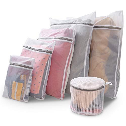 洗濯ネット 小 大 ランドリーネット ブラジャー 洗濯ネット マグネシウム粒 洗濯まぐちゃん 細かいメッシュの洗濯袋 あらゆる種類の洗濯機に適しており、変形やもつれを防ぎ、耐久性があります 6ピースセット