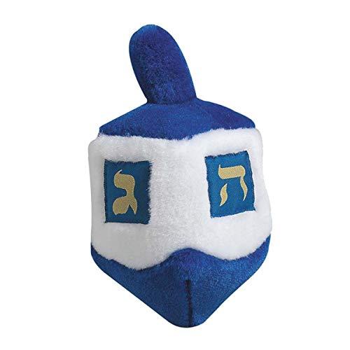 MPP Hanukkah Dreidel Dog Toys Blue Plush 6.5 Singing Traditional Song When Squeezed