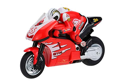 RC TECNIC Moto Teledirigida Niños 1:20 con Giroscopio   Moto Radiocontrol con Batería y Mando Control Remoto   Juguete para Niños