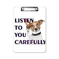 犬をペット フラットヘッドフォルダーライティングパッドテストA4