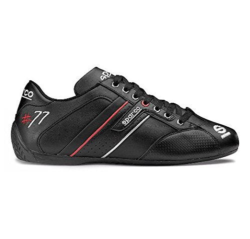 Sparco 00120538NR Time 77 Black Size-38 Leather Shoe