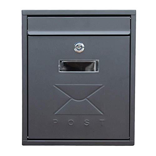 Preisvergleich Produktbild Wandmontage Briefkästen Einfache Wand Mailbox Außen verzinktem Blech Regendicht Postbox Europäische Gartendekoration Land-Briefkasten Briefkasten Mailbox kyman