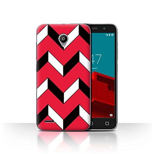 Stuff4 Var voor VD-CC Rode Mode Vodafone Smart Prime 6 Zig Zag/Strepen