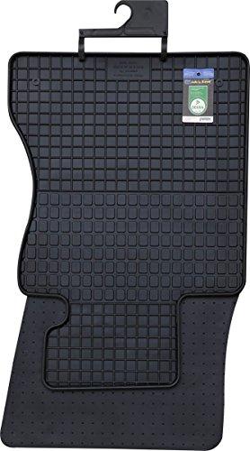 PETEX Gummimatten passend für 5er (E60) ab 06/2003-02/2010 / Touring (E61) ab 2004-08/2010 Fußmatten schwarz 4-teilig
