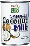 Cecil Bio - Leche de coco natural, 18 % de grasa, 400 ml (pack de 3)