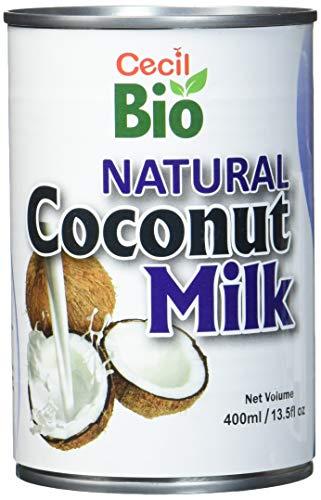 Cecil Bio Latte di cocco naturale, 18% grassi, 400 ml, confezione da 3