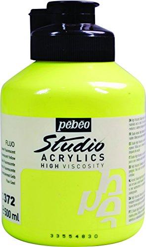 Pébéo - Pintura acrílica, color Jaune Fluorescent 500 ml