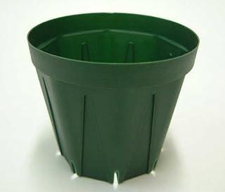 スリット鉢 プラ鉢 9cm モスグリーン 10個