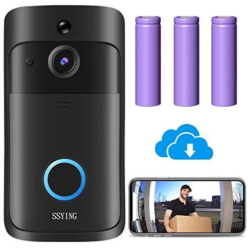 Video Timbre Inteligente, WiFi videoportero,Detección de Movimiento PIR, Comunicación Bidireccional, IP66 Impermeable, Visión Nocturna para iOS y Android (Actualización 2020) (videoportero)