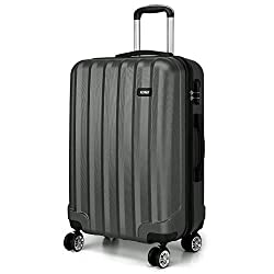 """🛫SIZE (all parts): 28inch - Height: 75cm, Length: 47cm, Width: 29cm. (29.5""""*18.5""""*11.4"""") Weight: 4.15kg. Capacity: 94 litres. 🛫MATERIAL: Made of lightweight and durable ABS material, provides long-lasting usage and safety. The fully lined interior an..."""