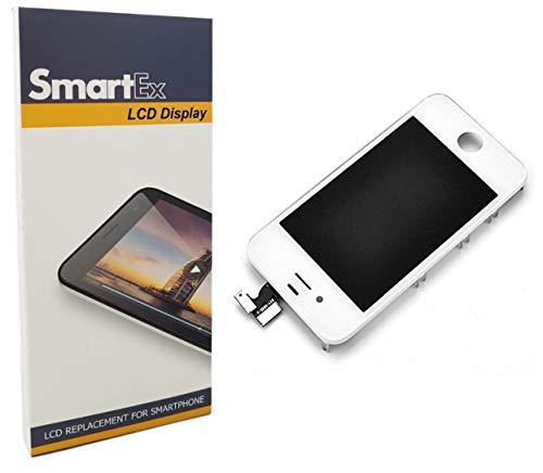 Smartex New Pantalla Blanco Compatible con iPhone 4S / Display LCD Retina y Vidrio Tactil