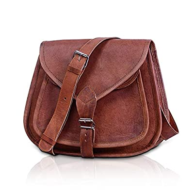 KPL Leather Purse Women Shoulder Bag Crossbody Satchel Ladies Tote Travel Purse by Komal's Passion Leather (12 Inch)