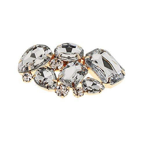 IPOTCH 1x Clip Floral Apliques de Diamantes de Imitación de Zapatos de Novia Ornamento para Vestido Bolso Sombrero