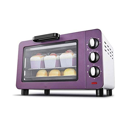 LKNJLL Mechanical Oven With Convection/Toast/Bake/Broil Function,15 L Capacity/3 Slices Bread/6-inch Pizza,Stainless Steel