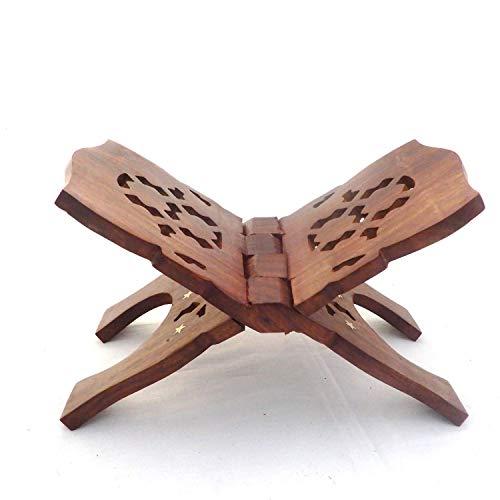 COPURE™ Premium Wood Holy Book Stand Rahel for Reading Geeta, Kuran, Bible 12 INCH