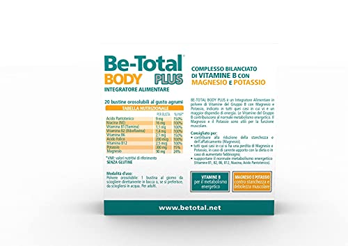 Pfizer Italia Div.Consum.Healt 211 Betotal Body Plus Integratore Alimentare, 20 Bustine