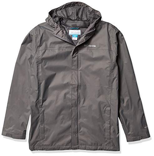 Columbia Boys' Big Breathable Watertight Jacket, City Grey, Large