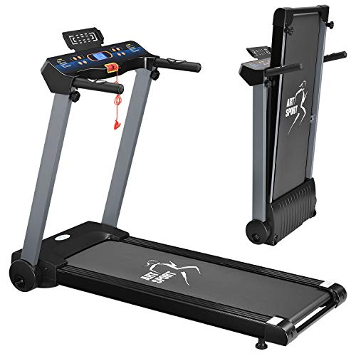 ArtSport Laufband Speedrunner 2500 elektrisch klappbar 12 km/h | 12 Programme | LCD Display | bis 120 kg belastbar | Heimtrainer Fitnessgerät