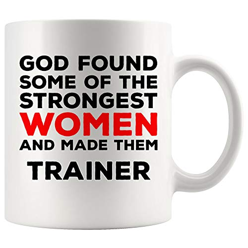 God Made Women Trainer Mug Coach Coffee Cup Mugs - Instructor Athletic Fitness Personal Animal Teacher Coach Thoughtful Gift for Men Women Faith Jesus