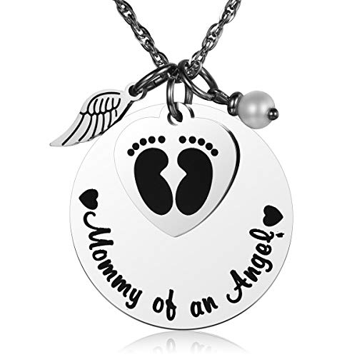 JZSTA Miscarriage Stillborn Necklace Gifts Infant Child Baby Loss Memorial Pregnancy Loss Mommy of an Angel