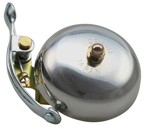 CRANE Bell Co. Suzu Sonnette de vélo Mixte Adulte, Argent (Polished), Ø 55 mm