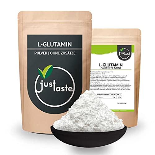 100 g L-Glutamin Pulver   GRÖSSENAUSWAHL   Aminosäure   Fitness und Muskelaufbau   OHNE Zusatzstoffe   Vegan (100 g)