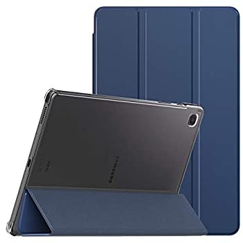MoKo Case Compatible with Galaxy Tab S6 Lite 10.4 2020 Smart Shell Stand Cover with Translucent Frosted PC Back Shell Fit Samsung Galaxy Tab S6 Lite 10.4 2020 SM-P610/P615 ONLY - Navy Blue