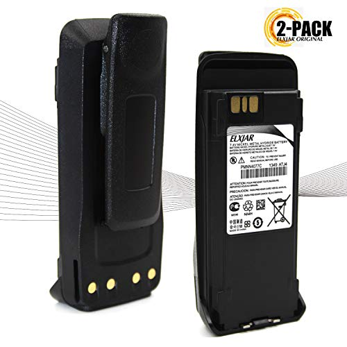 (2-Pack) 7.4V Ni-MH Replacement Battery for Motorola PMNN4077 PMNN4077C, Compatible with XPR6100 XPR6300 XPR6350 PR6380 XPR6500 XPR6550 XPR6580 DP3400 DP3601 DGP4150 DGP6150 XIRP6500, PMNN4066A/4065
