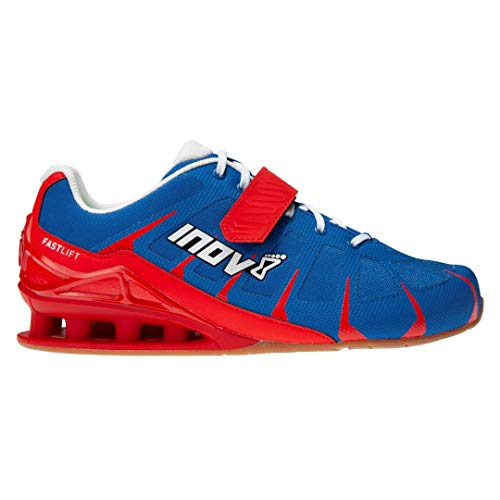 Inov-8 Men's Fastlift 360 – Weight Lifting & Powerlifting Shoes - Men's Squat Shoes - Blue/Red/White - 10.5