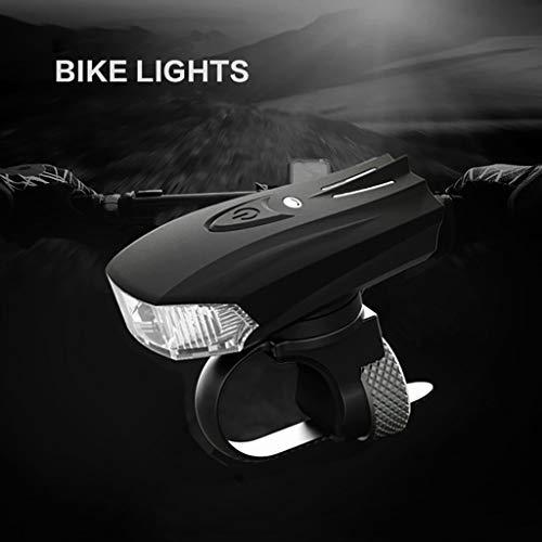 JFSFAS 2020 LED Fahrrad Licht Scheinwerfer, Warnlicht Intelligent Induktion Vibration USB Aufladen Fahrradlicht Nacht Reiten Tot Fliegen Single Berg Fahrradbeleuchtung für Outdoor Camping Sport