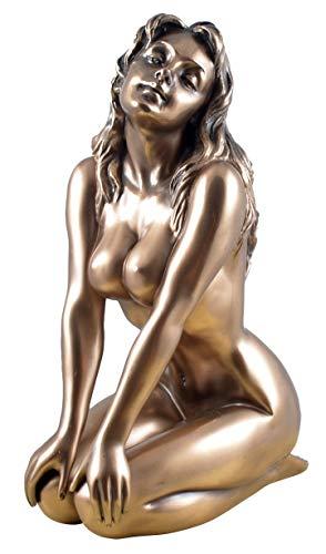 Unbekannt Veronese Figur Weiblicher Akt Frau knieend bronziert Skulptur