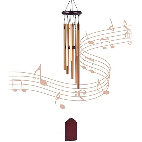 MZSM Wind Chimes Outdoor Garden Indoor Wind Chime,8 Aluminum Alloy Tubes Wind Chimes for Garden Patio Backyard Home Decor(Golden)