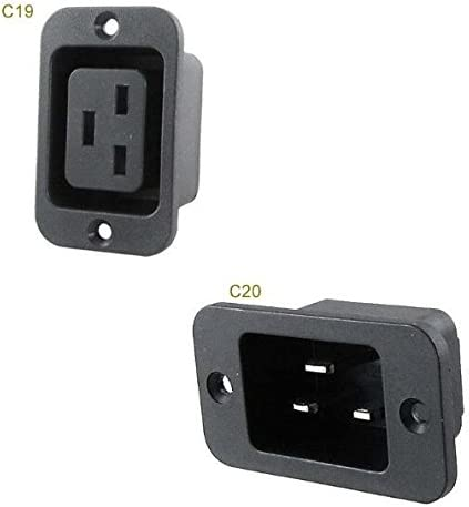 Davitu AC 250V 16A IEC 320 C19 Mount Panel Connector SEAL limited ...