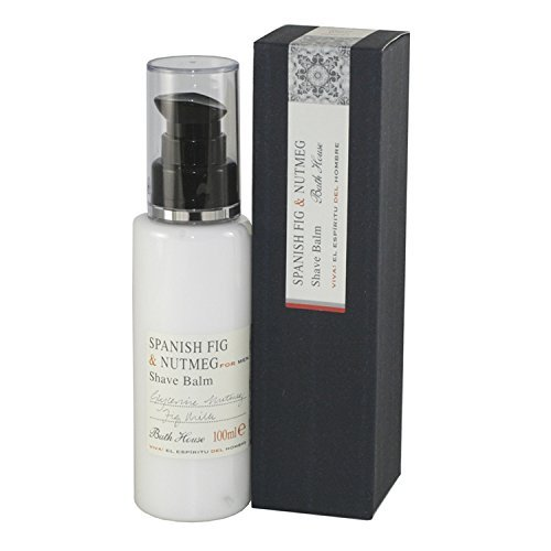 Spanish Fig & Nutmeg For Men von The Bath House Shave Balm 3.3 oz / 100 ml