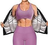 Gotoly Tuta da Sauna di Perdita di Peso Sauna Fitness Manica Lunga T-Shirt Donna Termici D...