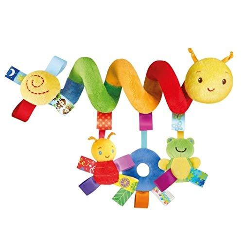 Juguetes para colgar actividades en espiral para bebé, juguetes para cochecito, juguete para bebé, sonajero de dibujos animados, multicolor brillante estimula la percepción del color del bebé
