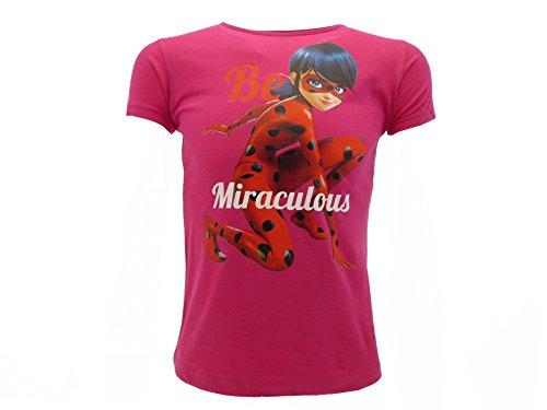 Miraculous Ladybug Prodigiosa T-Shirt Camiseta Marinette Fucsia Original (7-8 años)